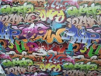 Graffiti DIY Styling Sticker Bomb Vinyl Film Sticker Self Adhesive PVC Sticker Bomb Wrap Foil With Air Release