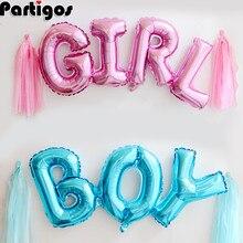 Bağlantı erkek bebek kız mektup folyo balonlar bebek duş doğum günü düğün parti 84CM bağlan bebek alfabe hava Balaos dekor