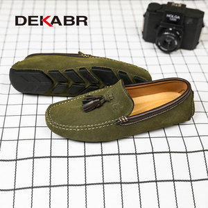 Image 4 - DEKABR Genuine Leather Men Shoes Spring Fashion Leather Men Loafers Flats New High Quality Casual Shoes For Men Driving Shoes
