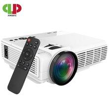 עוצמה LED מיני מקרן 2600Lumens תמיכת 1080P אלחוטי סנכרון תצוגת עבור iPhone/אנדרואיד טלפון וידאו Beamer עבור בית קולנוע