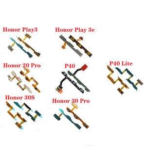 Гибкий кабель для Huawei Honor Play 3 Play 3e 20 Pro 20i 20S 30S 30 Pro P40 P40 LIte P40 Pro, кнопка включения и выключения звука