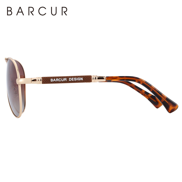 BARCUR Design Titanium Alloy Sunglasses Polarized Men's Sun Glasses Women Pilot Gradient Eyewear Mirror Shades Oculos De Sol 6