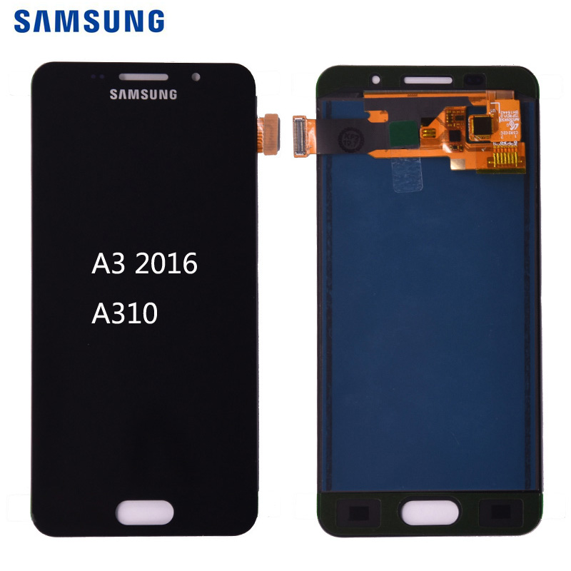 Für Samsung Galaxy A3 2016 A310 <font><b>A310F</b></font> A310H A310M A310Y <font><b>LCD</b></font> Display mit Touch Screen Digitizer Montage kostenloser versand image