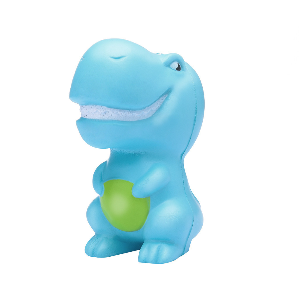 Sky Blue Dinosaur Slow Rising Squeeze Stress Reliever Toys Cartoon Eliminate Antistress Finger Pets Toy Cute Holiday Gifts #A