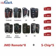 HKCYSEA 8pcs Different Type JMD Super Remote with Red Chip King Blue Chip JMD46 JMD48 Chip Original JMD Remote Car Key