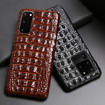 Leather Phone Case For Samsung S20 Ultra S10 S10e S9 S8 S7 Note 8 9 10 20 Plus A20 A30 A50 A70 A51 A71 A8 Crocodile Back Texture