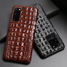 עור טלפון מקרה עבור סמסונג S20 Ultra S10 S10e S9 S8 S7 הערה 8 9 10 20 בתוספת A20 A30 a50 A70 A51 A71 A8 תנין חזרה מרקם