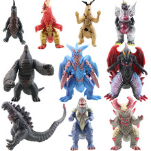 Soft joints Anime Cartoon Movie Ultraman Monsters Dinosaur Gojira Action Figure PVC Movable Hobby Collectible Model Toy Kid Gift