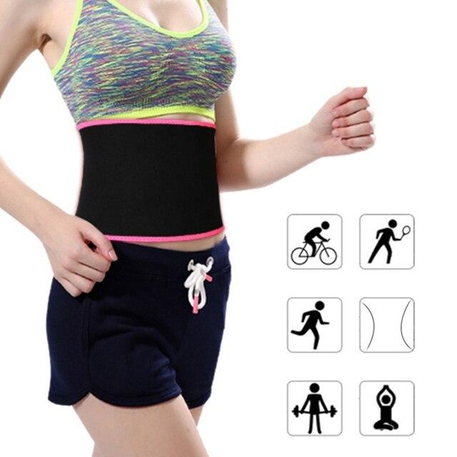 women Waist Trimmer Belt Weight Loss Sweat Band Wrap Fat Tummy Stomach Sauna Sweat Belt Sport Belt 1