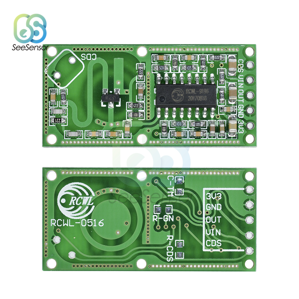 RCWL-0516 Microwave Radar Sensor Module Human Body Induction Switch Module Intelligent Sensor Smart Electronics