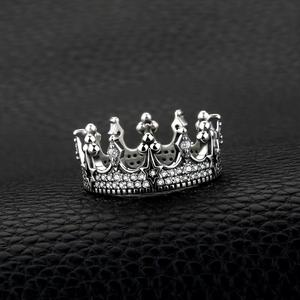Image 3 - JewelryPalace Vintage Gothic Cubic Zirconia Tiara Crown Ring 925 Sterling Silver Rings for Women Jewelry Making Fashion Jewelry