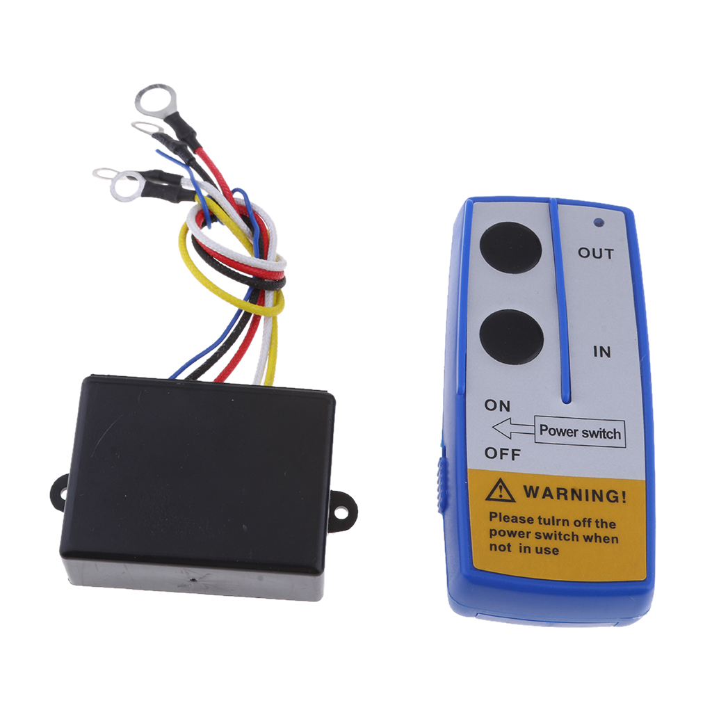 MagiDeal 50ft 12V Wireless Winch Remote Control Kit Switch For Truck ATV SUV
