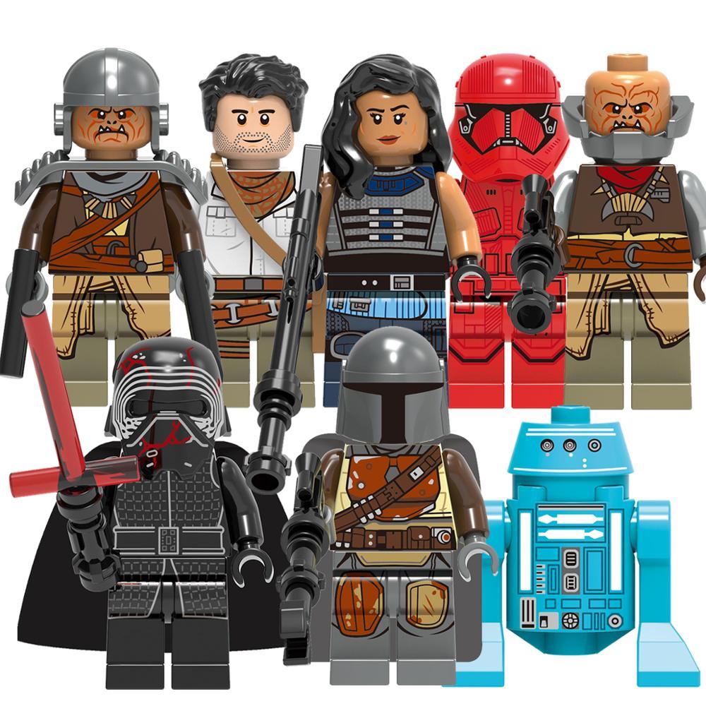 8Pcs Star Wars 9 Mandalorian Poe Dameron Sith Stormer Kare Dunn Raider Model Building Blocks Enlighten Figure Toys For Children