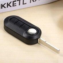 цена на 3 Button Flip Replacement Folding Remote Control Key Uncut Blade 433Mhz PCF7946 For Fiat 500 Doblo Florino Grande Punto Evo Qubo