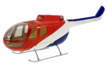 450 size glass fiber fuselage for MBB BO-105 scale helicopter
