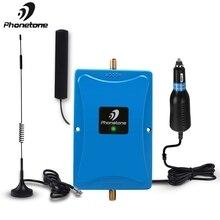 Phonetone mini 850 mhz 45db 이득 휴대 전화 증폭기 자동차/rv/트럭 용 안테나 케이블 사용 모바일 신호 부스터 리피터 키트