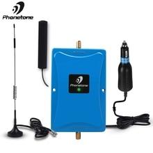 Phonetone mini 850MHz 45dB ganancia teléfono celular amplificador de señal móvil repetidor Kit con antena Cable uso para coche/RV/camión