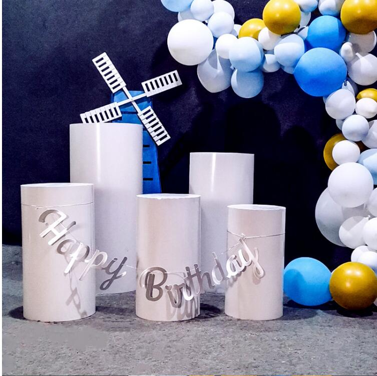 New tie yi wedding props column dessert table wedding cylinder dessert table check-in area birthday party decoration