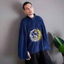Endless Cloak Chinese Style Embroidered Coat Long Chinese Style Chinese Clothing Cloak Taoism Tai chi costumeThe infinite(China)