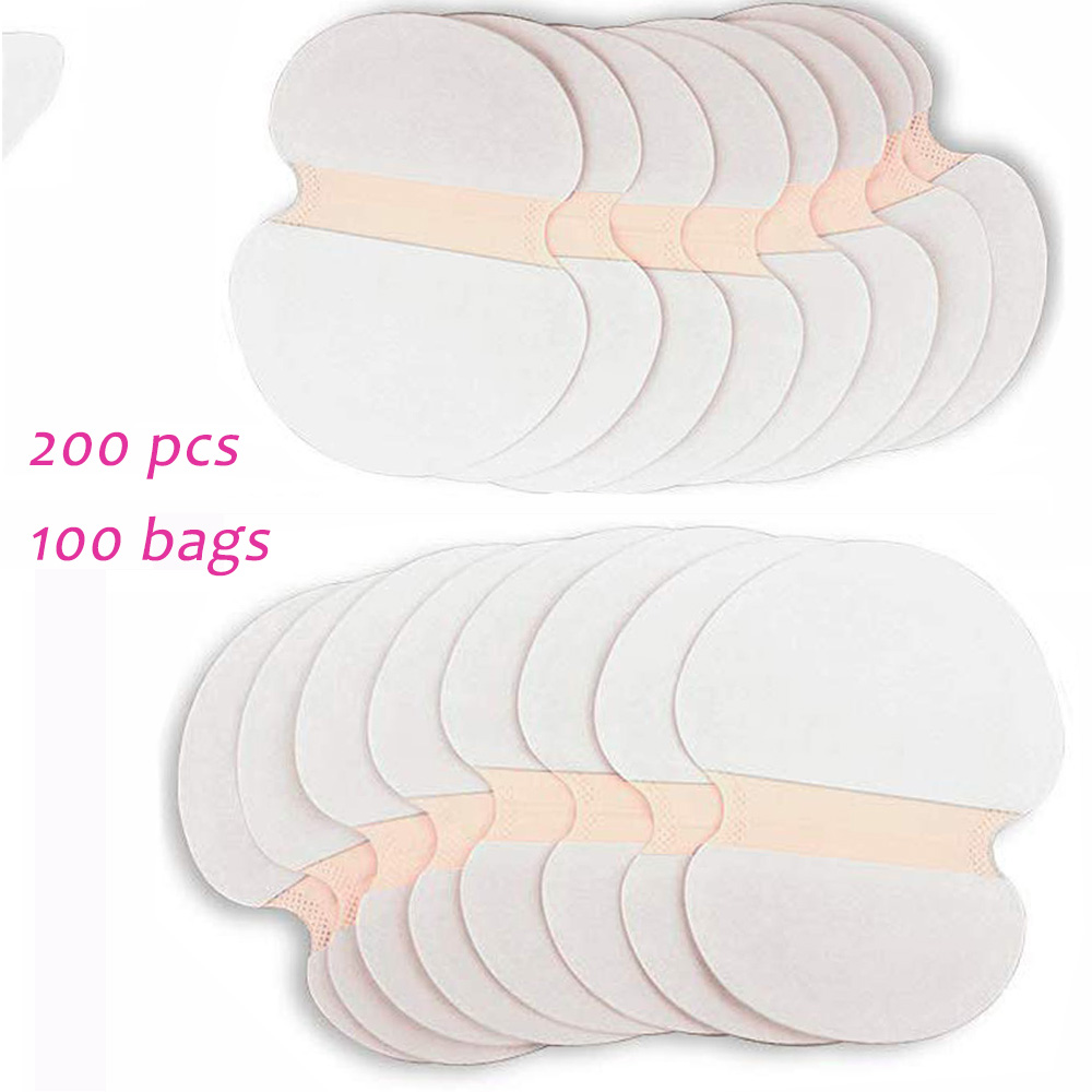 200 PCS Deodorant Pads Shield Underarm Armpits Sweat Pads Deodorant Armpit Absorbent Pads Underarm Pad Dress Sweat Perspiration