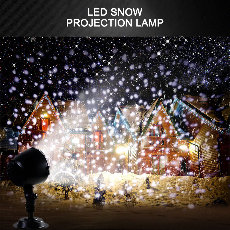 LED Waterproof Snowfall Light Projector With Remote Control Snow Falling Light For Indoor Outdoor Christmas Halloween