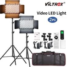 Viltrox VL-S192T 2 pçs led luz de vídeo bi-color pode ser escurecido kit de luz de fotografia remota sem fio + 75