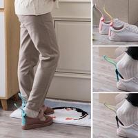 2 pièces ensemble paresseux chaussures Lifter en plastique chausse-pied coloré chaussures cornes cuillère Flexible paresseux chaussure aide Lifter chaussures accessoires