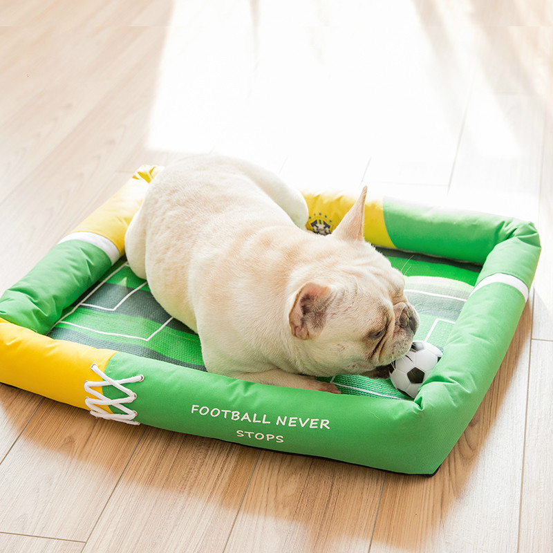 Cat Litter Mat World Cup Kennel Dog Bedding Dog House Bed Dog Beds Hand Wash Breathable 100 Cotton Casa Gato in Houses Kennels Pens from Home Garden