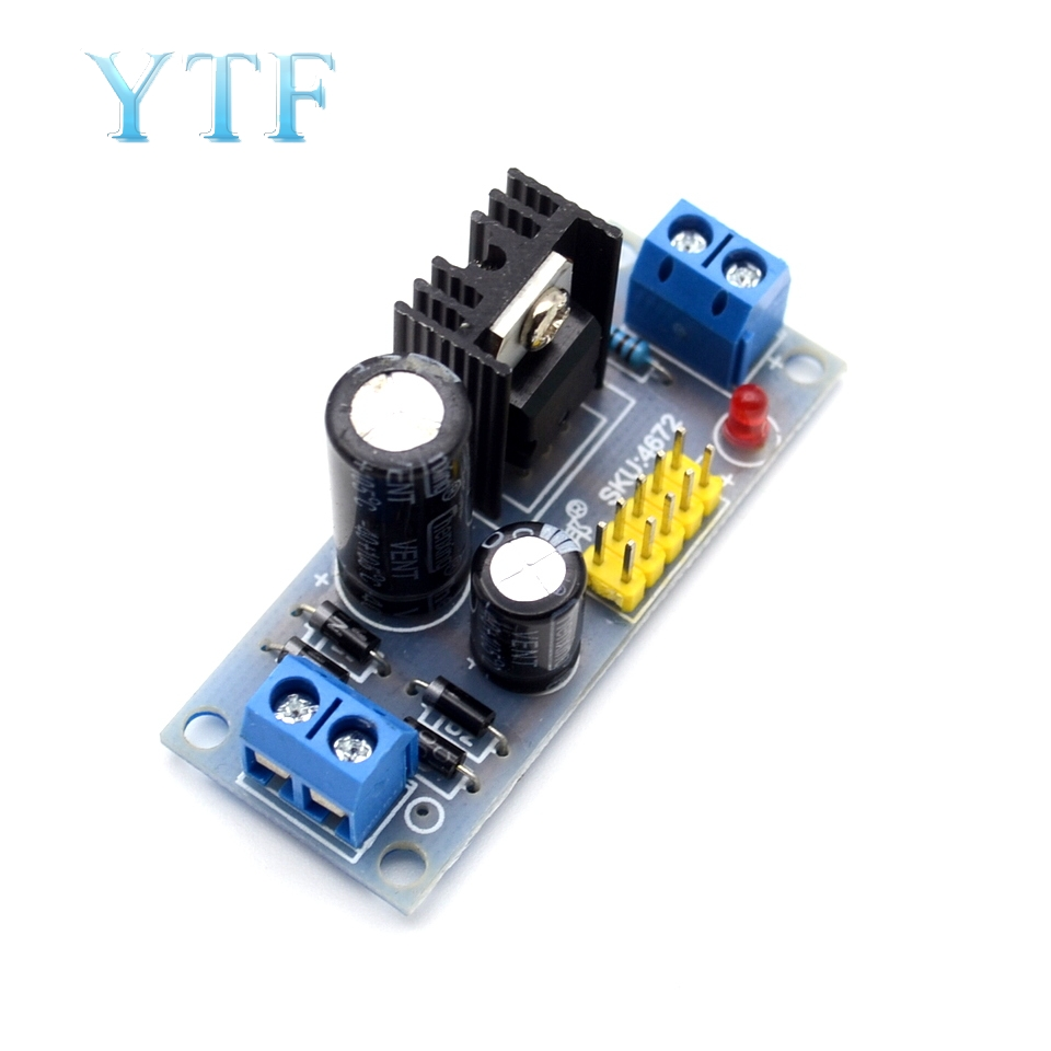 LM7805 7.5V-35V To 5V Step Down Converter 1.2A Regulator Power Supply Module