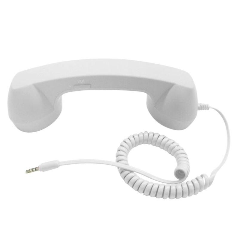 Универсальные Ретро радиационные телефонные наушники для телефонных звонков - Цвет: Белый