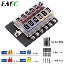 Fuse-Box-Holder Terminal-Block Blade Warning-Light Boat Trike Marine 12V 24V with LED