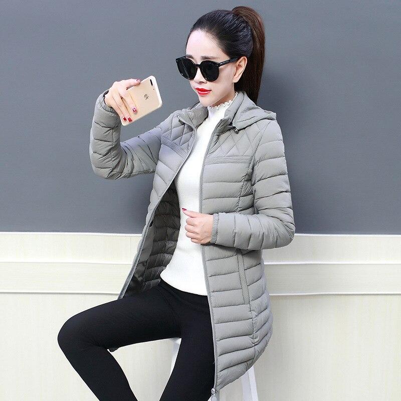 Women's Down Jacket Long   Parka   2019 Winter New Warm Slim Hooded Down Jacket Coat Women's Winter Outwear Plus Size 6XL Thick Coat