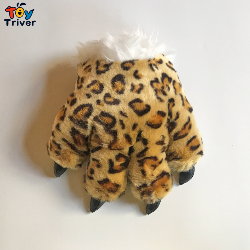 1pc Tiger Leopard Dinosaur Wolf Panda Paw Claw Plush Toy Hand Puppet Glove Cosplay Party Costume Cheerleaders Adult Toys Gift