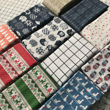 Various Styles Printed Cotton Linen Fabric Canvas For Patchwork Sewing Curtain Tablecloth Pillowcase
