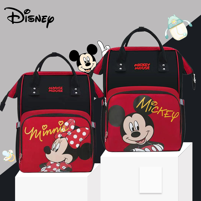 Disney Lovely Pre-deisgn Baby USB Diaper Bags For Mom Baby Bag Backpack Maternity Waterproof Mummy Handbag Nappy Bag Organizer