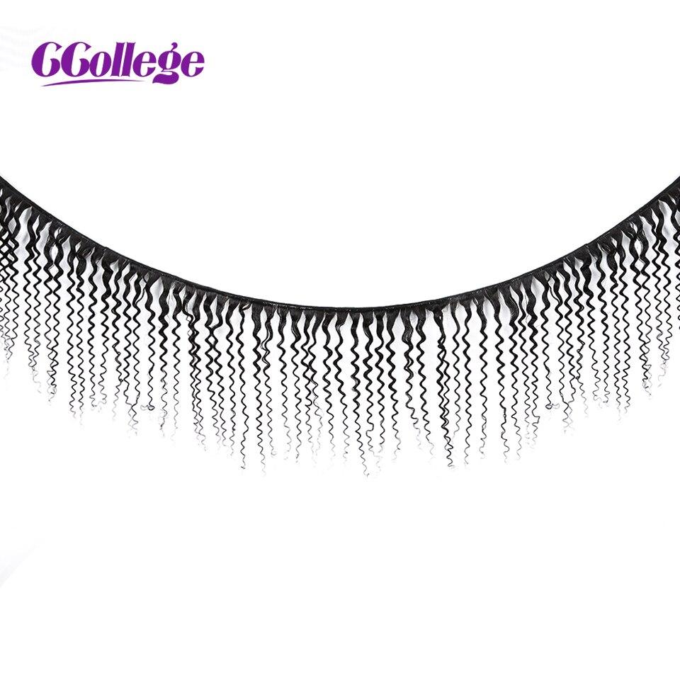 CCollege 3 Bundles Brazilian Kinky Curly Hair Weave Bundles Natural Color NonRemy Human Hair Bundles Brazilian Hair Weaving