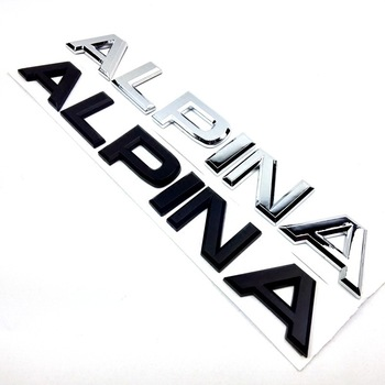 ALPINA Letter Trunk Rear Emblem Decal Sticker for BMW E46 E39 E60 E90 E36 E53 E30 E34 F10 F30 1 3 5 7 M X Z Series car styling image