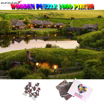 MOMEMO Hobbit House Wooden Puzzle 1000 Pieces Movie Landscape Jigsaw Puzzle Customized Adults Assembling Puzzles Toys Home Decor
