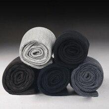 10 Pairs/Lot Men Bamboo Fiber Socks 2021 Hot Compression Autumn Long Black Business Casual Man Dress Sock Gifts Plus Size 42-45