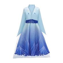 Одежда для девочек Aisa костюм «платье принцессы», новинка, для детей от 4 до 12 лет, Хэллоуин, Рождество, г., горячая Распродажа, качественная одежда