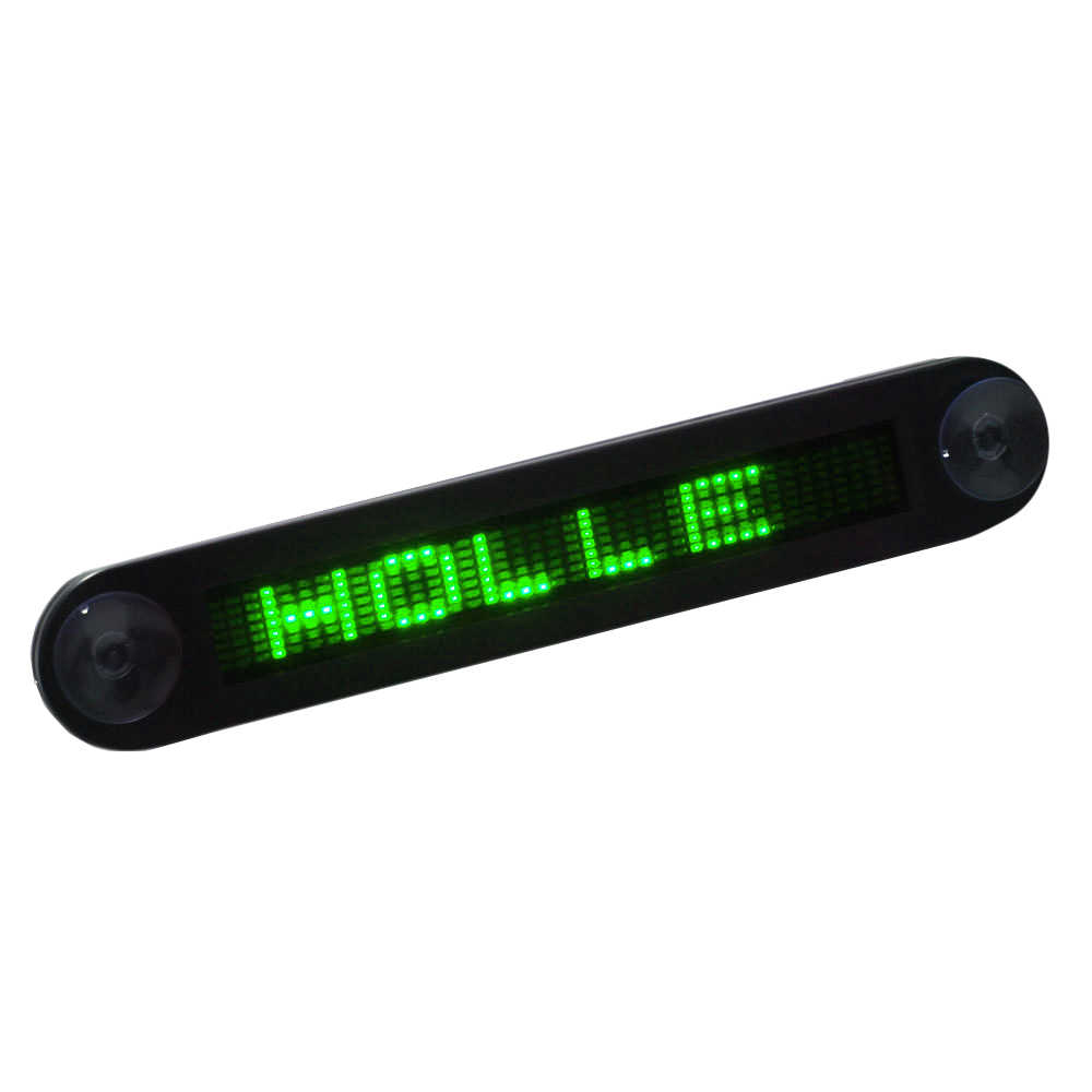 ترقية سيارة صغيرة سوبر سليم LED للبرمجة رسالة تسجيل التمرير عرض المجلس