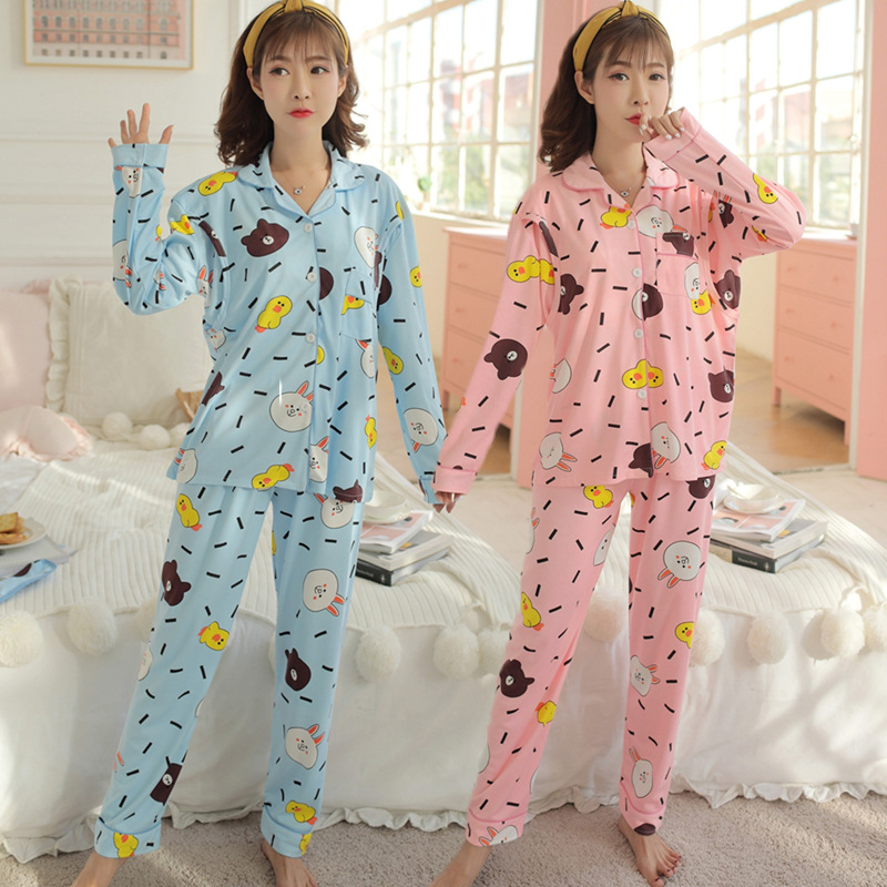 Pregnant Women Confinement Clothing Japanese Korean Hoodie Double-Sided Thick-136-9 # Pajamas Spring And Autumn Maternal Lactati
