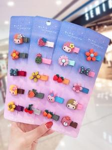 5/10 Pcs/Set Children Cute Candy Cartoon Fruit Flower Ornament Baby Hair Clips Girls Lovely Hairpins Kids Hair Accessories(China)