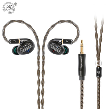 New LZ A7 In Ear Earphone 1 Dynamic+4BA+2 Piezoelectric Ceramics Driver Hybrid 7 Unit HIFI IEM Replaceable Tuning Switch MMCX A6