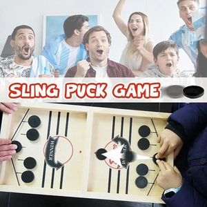 Family Games Table Hockey Game Catapult Chess Parent-child Interactive Toy Fast Sling Puck Game Ice Hockey Games For Children(China)