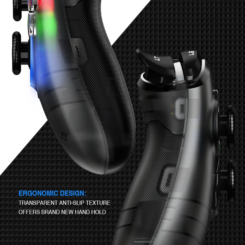 GameSir T4 USB Wired Gamepad for PS3 with D-Pad Joystick/Colorful LED and Motor Vibrator 5