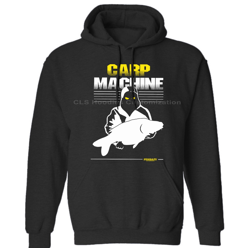 CARP MACHINE- CARP FISHING  -ALL SIZES Cool Mens Unisex (Womens) Winter Hoodies Sweatshirts Free Shipping