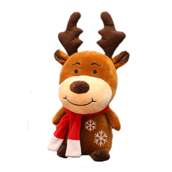 цена на New Soft Christmas Deer Plush Reindeer Furry Deer Christmas Decoration For Home Ornament Happy New Year Christmas Gift Kids Gift