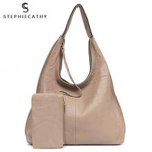 SC Brand Designer High Quality Cow Leather Hobo Women Genunine Leather Shoulder Bag Ladies Large Soft Casual Handbag Zip Purse