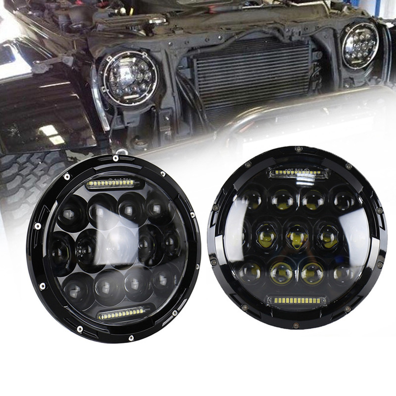 Vectra Cars Modified Headlamps With Day Light Led Headlight 7 Inch 75 W Jeep Wrangler Headlight